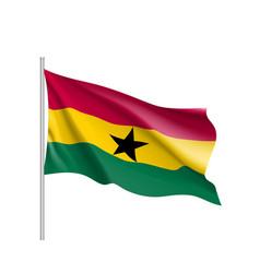 ghana realistic flag vector image