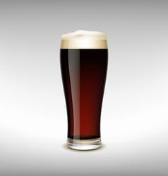 Glass of dark beer vector image vector image