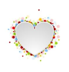 Heart shape with shiny lights vector image