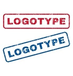 Logotype rubber stamps vector