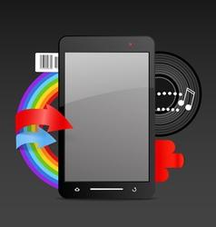 Modern gadget on expressive background vector image vector image