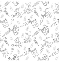 Tattoo machines pattern Contour vector image vector image