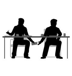 Under the table deal vector image