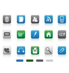 web icon -color square series vector image vector image