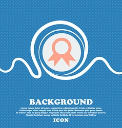 Award Prize for winner sign icon Blue and white vector image