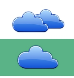 Glossy cloud icon vector image