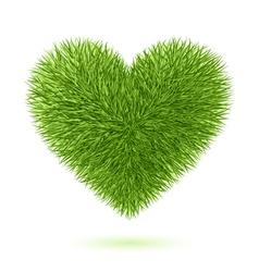 grass heart symbol vector image vector image