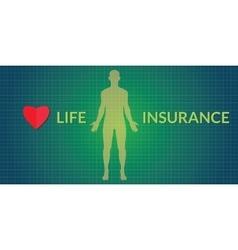 life insurance human silhouette vector image