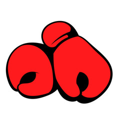 red boxing gloves icon icon cartoon vector image