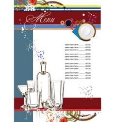 restaurante menu vector image