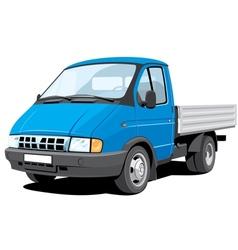 small cargo truck vector image vector image