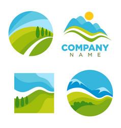 abstract nature logos vector image vector image