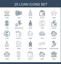 25 loan icons vector