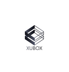 abstract box cube logo icon template blockchain vector image