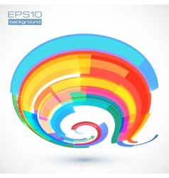 Abstract colorful curve vector
