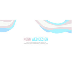 Abstract header website banner modern style vector