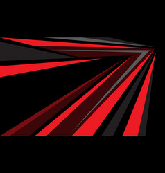 abstract red grey arrow line speed direction black vector image