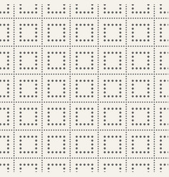 abstract seamless pattern of dotted squares vector image