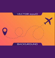airplane is in a dotted line vector image