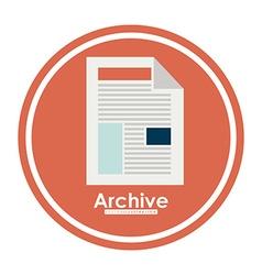 Archive design vector