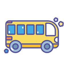 Back to school education transport bus vector