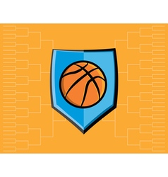 Basketball Icon Bracket vector image