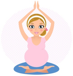 Beautiful yoga girl practicing yoga asana vector image