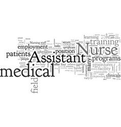 Become a nurse assistant vector