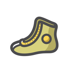 boxing shoes sportswear icon cartoon vector image