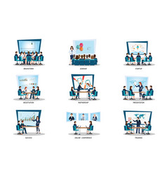 business people of meeting or teamwork vector image