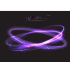 Circle or ovals light effects background vector