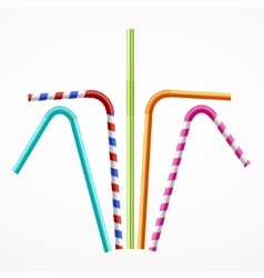 Colorful Drinking Straws Set vector