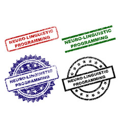 Damaged textured neuro-linguistic programming vector