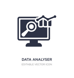 Data analyser icon on white background simple vector
