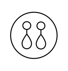 earrings icon editable thin line vector image