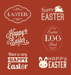 easter typographic vector image