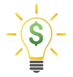 Electric Light Price Gradient Icon vector