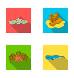 electric ramp mussels crab sperm whalesea vector image