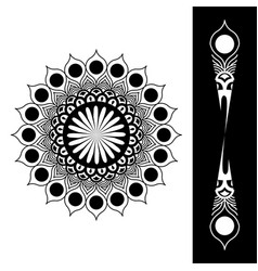 Element in 18 degrees black color vector