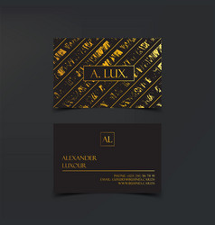 fashion elegant black luxury business cards with vector image
