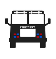 fire car elements of the fire departament vector image