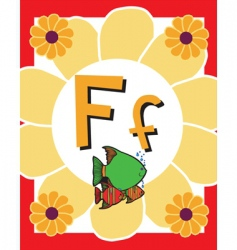 flash card f vector image