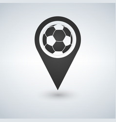 football ball icon map pin soccer ball map pin vector image