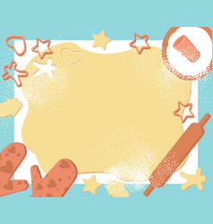 Frame dough cookies great design for any purposes vector