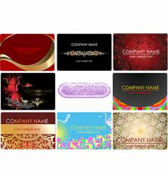 glamor fashion business cards vector image