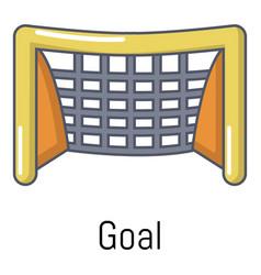 Goal soccer icon cartoon style vector