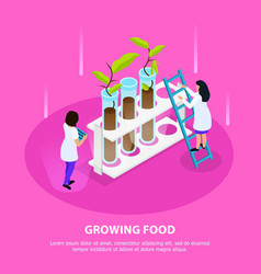 growing artificial food isometric composition vector image