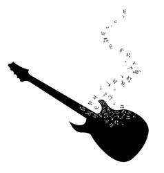 Guitar musical notes vector