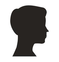 head man profile icon vector image
