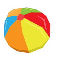 Isolated geometric beach ball vector